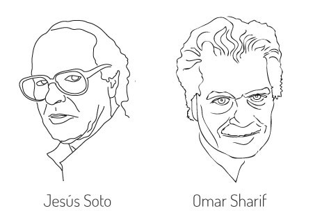 Jesús Soto and Omar Sharif